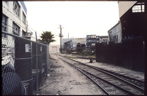 Railroad tracks from District Boulevard to Gifford Avenue near Fruitland Avenue, Vernon, 2002