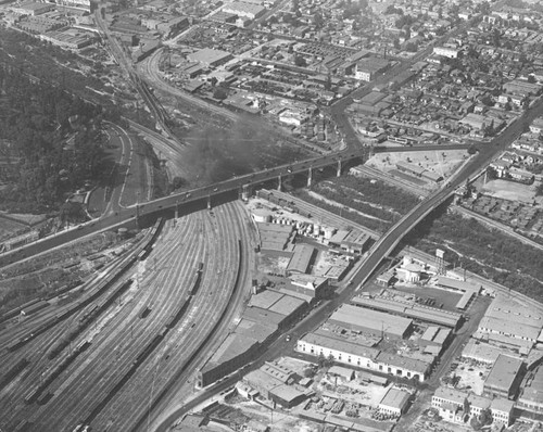 Los Angeles River, aerial