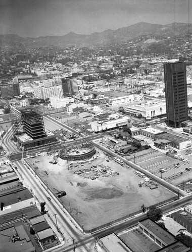 Pacific Cinerama Theatre, Hollywood, looking northeast