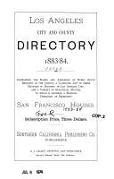 Los Angeles City Directory, 1883-84