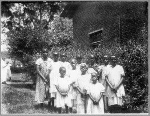 Girls at the mission house, Arusha, Tanzania, 1928