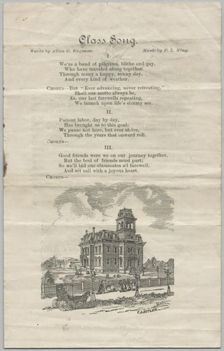 1883 San Jose High Commencement Program