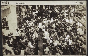 Mission congregation in the open air. Basel Mission festival in Bonaku, 21st April 1907