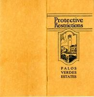Cover of the original Protective Restrictions for Palos Verdes Estates