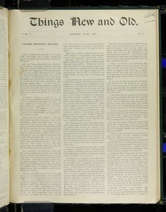 Things new and old, vol. 3, nos. 1-6, Apr. 1923 - Feb. 1924 (lacks no. 1, Apr. 1923)