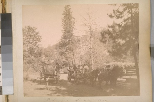 Fishing party--San Antonio Creek. Sheep Ranch (Calaveras Co.). [No.] 1. [Voituredebois]