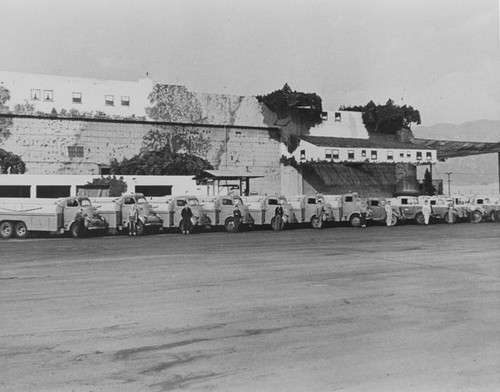 Lockheed Air Terminal, the Gas House and Paint & Operations Buildings around 1940