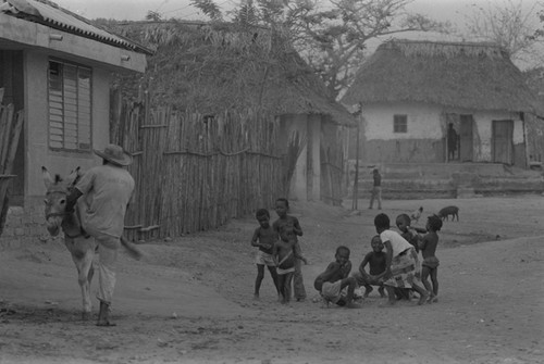 Children playing in the street, San Basilio del Palenque, ca. 1978