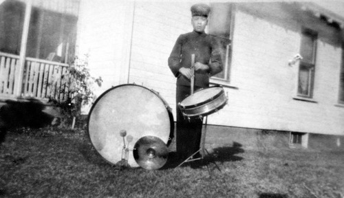 Drummer from the Greenville Indian School Band