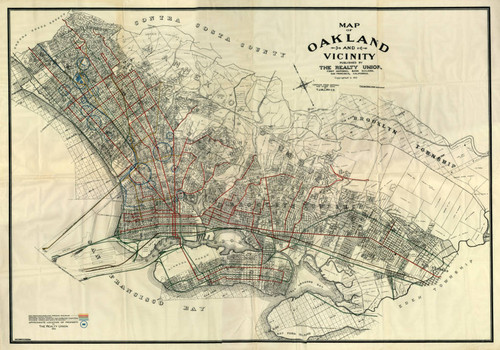 Calisphere Map of Oakland and vicinity published by the Realty