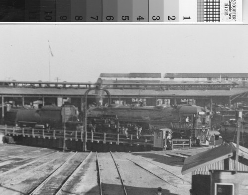 Calisphere: Southern Pacific Railroad roundhouse