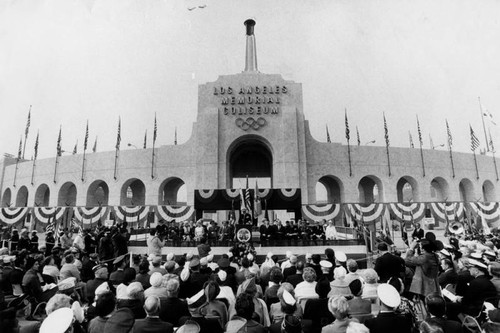 Veterans Day gathering at the Coliseum