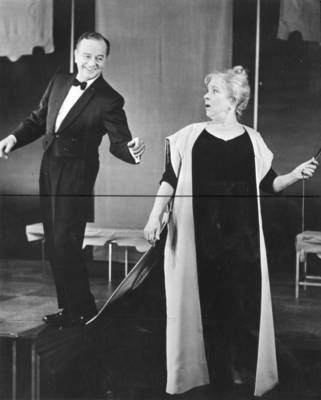 Helen Hayes and Maurice Evans, 1962-63 Artist Lecture Series, Chapman College, Orange, California