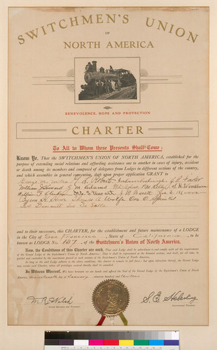 Switchman's Union of North America Charter