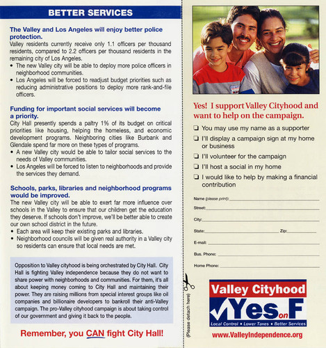 San Fernando Valley Independence Brochure (pages 4 and 5)