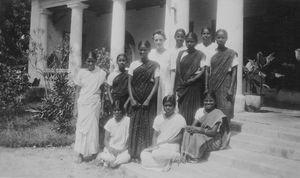 Cuddalore, South Arcot District, India. From Darisanapuram Bible School. No. two from the right