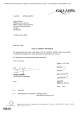 [Letter from Nigel P Espin to Sabrina Otoo in regards to Excel spreadsheet relating to seizure]