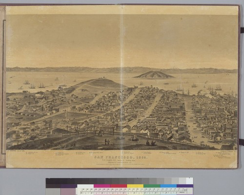 San Francisco, [California] 1862: from Russian Hill, sec[tio]n 3 looking east