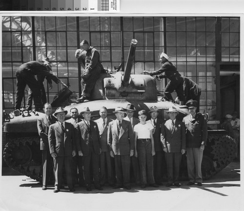 [Photograph of Sherman Tank, Ford Assembly Plant]