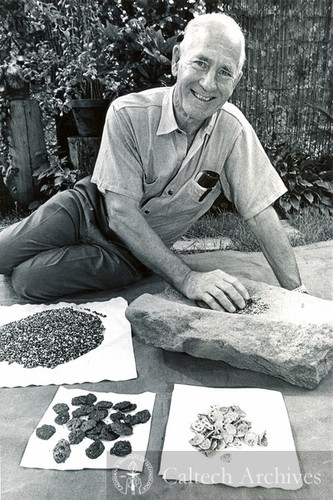 George Beadle with samples
