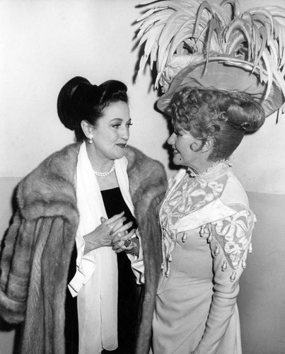 Dorothy Lamour and Ginger Rogers at Chandler Pavilion