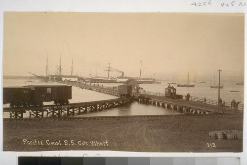 Pacific Coast S.S. Co.'s Wharf. 315. [Photograph by Parker, San Diego.]