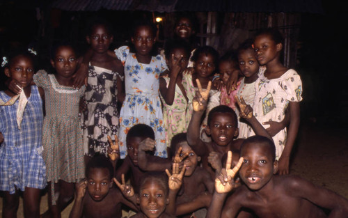 Group of children, San Basilio de Palenque, 1976