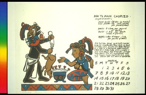 Calendario 1976.Calisphere Warrior Y Casador Sic From Calendario De