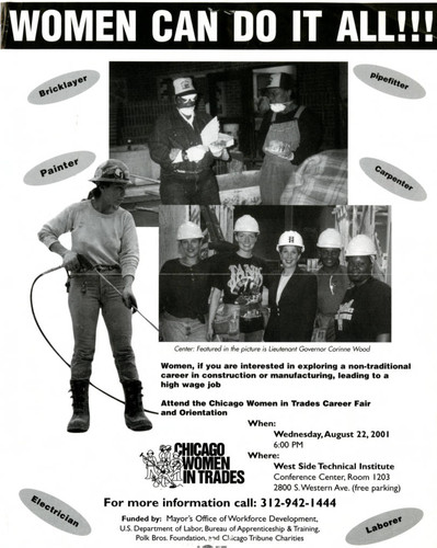 Chicago Women in Trades flyer