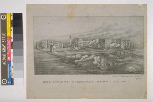 View of Montgomery St. From Sacramento Wharf The Morning After The Great Fire