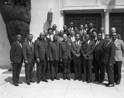 Ministers at A.M.E. District Conference, Los Angeles, 1970