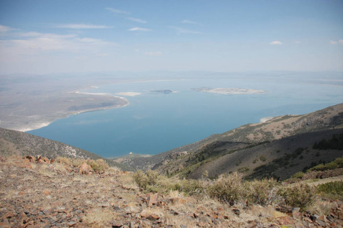 View of Mono Lake from the high point east of the junction to the mine #3