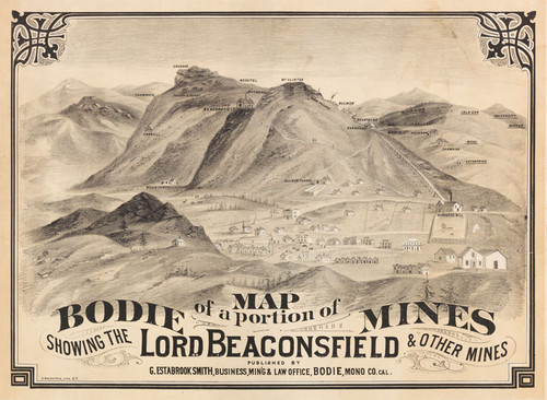 Calisphere Map Of A Portion Of Bodie Mines Showing The Lord