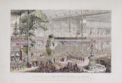 The Opening of the Great Industrial Exhibition of All Nations, by Her Most Gracious Majesty Queen Victoria and His Royal Highness Prince Albert, on the 1st of May, 1851