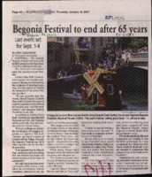 Begonia Festival to end after 65 years
