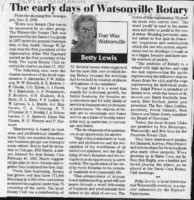 The early days of Watsonville Rotary