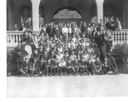 Analy Union High School Class photo, taken on the steps of the original Analy Union High School, about 1922