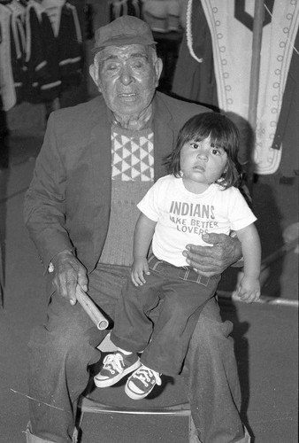 Wallace Burrows and granddaughter