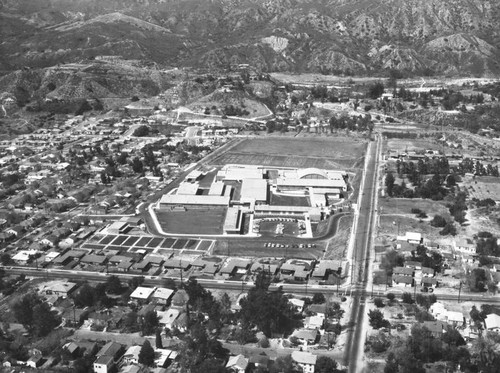 Mt. Gleason Junior High, Mt. Gleason Avenue, view is looking north