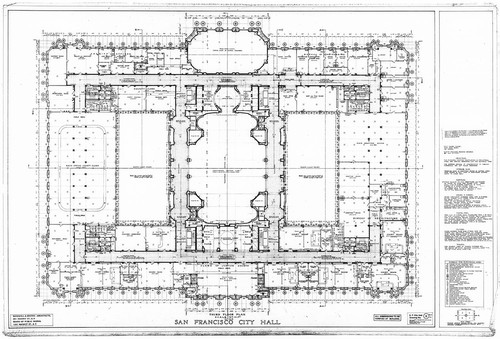 Calisphere third floor plan san francisco city hall drawing no 11 third floor plan san francisco city hall drawing no 11 malvernweather Images