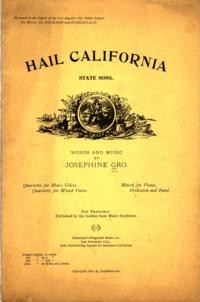 Hail California. State Song