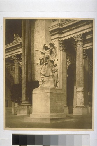 """The Genius of Creation"" (Daniel Chester French, sculptor). Avenue of Progress, at entrance to Palace of Machinery (Ward & Blohme, architects). 11388½"