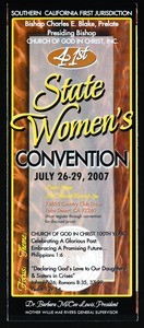 Annual state women's convention, COGIC, Palm Desert, California, 1995