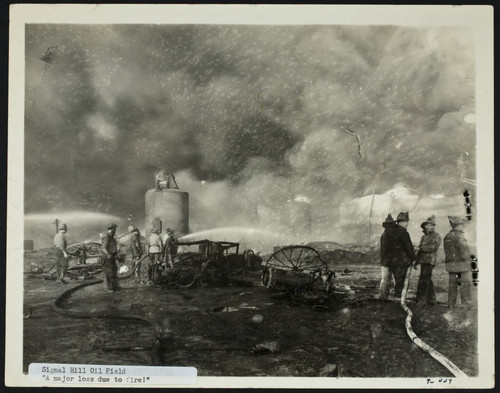 Elegant Richfield Oil Refinery Explosion And Fire, Signal Hill, Petroleum Storage  Tank Collapsed