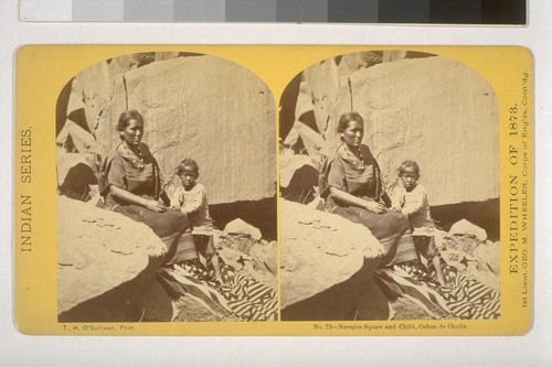 Navajoe Squaw and Child, Canon de Chelle