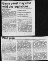 Game panel may ease wild pig regulations