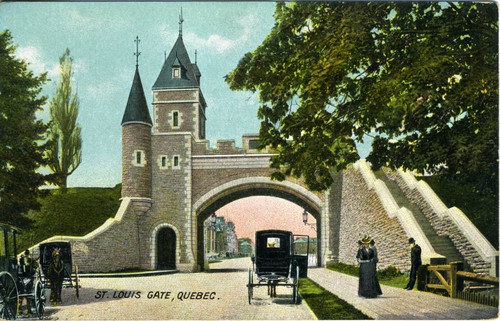 Postcard, St. Louis Gate, Québec City