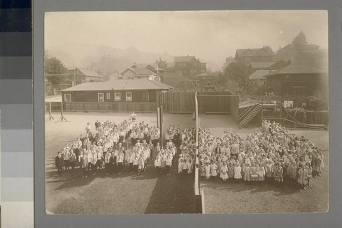 [Schoolyard portrait of pupils. Unidentified school. Berkeley?]