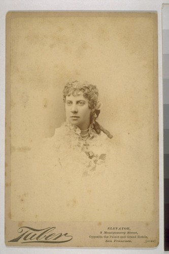 [Portrait of Mrs I.W. Taber. Photograph by Isaiah West Taber.]