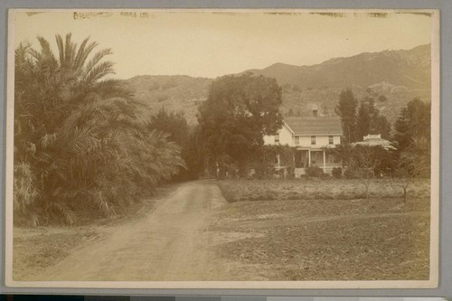 Col. Nollistus House, Glen Annie, Santa Barbara, Cal. April 21st, 1884